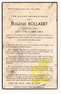 DP Eugenie Bollaert ° Zedelgem 1864 † Bekegem Ichtegem 1937 X A. Vyvey Xx K. Vanhee - Devotion Images