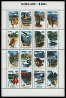 Chile 1990 - Mi-Nr. 1325-1340 ** - MNH - Wildtiere / Wild Animals - Chile