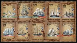 Ecuador 2010 - Mi-Nr. 3225-3234 ** - MNH - Schiffe / Ships - Ecuador