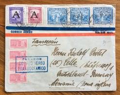 POSTA AEREA  PAR AVION  COLOMBIA GERMANY   CORREO AEREO TRANSOCEANICO FROM POPAYAN   TO ZONA INGLESE  THE 10/10/1950 - Bolivia