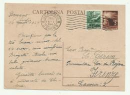 CARTOLINA POSTALE LIRE 3 CON AGGIUNTA LIRE 1 1947 FG - 1946-60: Gebraucht