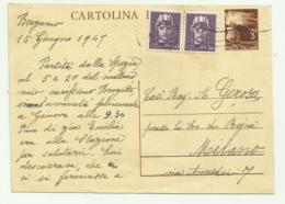 CARTOLINA POSTALE LIRE 3  CON AGGIUNTA 2 DA CENTESIMI 50 LUOTENENZA 1947 FG - 1946-60: Gebraucht