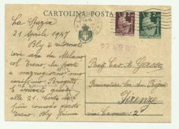 CARTOLINA POSTALE LIRE 2   CON AGGIUNTA LIRE 2 1947 FG - 1946-60: Gebraucht