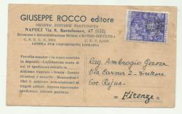 FRANCOBOLLO LIRE 20 ANNO SANTO 1952 SU BIGLIETTO - 1946-60: Gebraucht