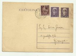 CARTOLINA POSTALE CON CENT. 50 CON AGGIUNTA CENT. 50 +LIRE 2 1946 FG - 1946-60: Gebraucht