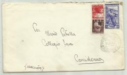 3 FRANCOBOLLI  LIRE 3+LIRE 2+ LIRE 20 ANNO 1952  SU BUSTA - 1946-60: Gebraucht