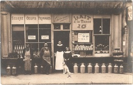 Dépt 75 - PARIS (55 Rue Du Faubourg Saint-Martin) - Carte-photo LAITERIE GARENNE (camemberts Et Coulommiers En Vitrine) - Arrondissement: 10