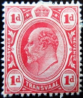1905 Transvaal Yt 178, Mi 132, Sg 274. King Edward VII . Neuf Trace Charnière Adhérence - Transvaal (1870-1909)