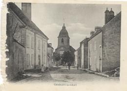 D70 - CHARGEY LES GRAY - Carte Animée - Cyclistes Etc... - PRECURSEUR - Francia