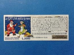 GRATTA E VINCI USATO L. 2000 LA FORTUNA SOTTO LA NEVE - Loterijbiljetten