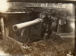 PHOTO ALLEMANDE - LITHUANIA LITUANIE - PIECE D'ARTILLERIE LOURDE A KOWNO - KAUNAS - GUERRE 1914 1918 - 1914-18