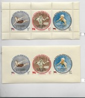 DOMINICAN REPUBLIC 1962 MELBOURNE OLYMPICS 2 STRIPS IOVPT UNESCO ANNIV. PERF/IMP - Dominican Republic