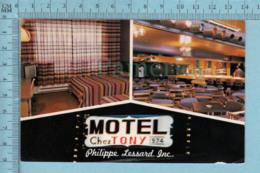 Amos Quebec - Motel Chez Tony, P. Lessard Prop. - A Servie En 1983 - Post Card Carte Postale - Autres