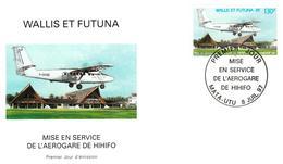 Wallis And Futuna Aero Stamp On FDC - Aeroplane - Covers & Documents