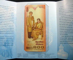 Thailand Banknote 100 Baht 2004 72nd 6th Birthday Queen Sirikit UNC - Thailand