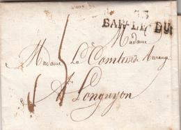 Lettre De BAR-LE-DUC 1818 - 1801-1848: Précurseurs XIX