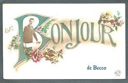 """BELGIQUE  """" UN BONJOUR DE BECCO """"...ANIMEE..C3086. - Belgique"""