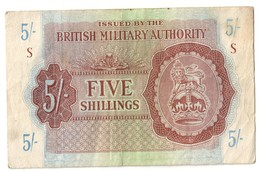 British Military Authority 5 Shillings 1943 - Military Issues