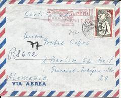 Peru 1968. 20 C. Sta. Claus Auf Luftpost Brief M. Lama Freistempel V. Colmena - Pérou