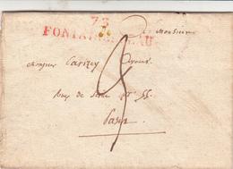 Lettre De FONTAINEBLEAU  1821 - 1801-1848: Précurseurs XIX