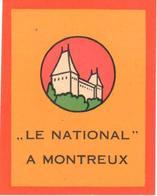 ,ETIQUETA DE HOTEL  - LE NATIONAL  -MONTREUX  -SUIZA - Hotel Labels