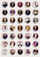 Musician Andrew Lloyd Webber Fan ART BADGE BUTTON PIN SET 3 (1inch/25mm Diameter) 35 X - Music