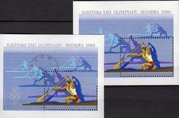 Moskwa Sommer-Olympiade 1980 Polonia Blocks 81 **/o 4€ Kanadier Bloque Hb Olympics Blocs M/s Sport Sheets Bf Poland - Blocks & Sheetlets & Panes