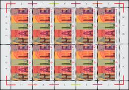2510 Jubiläum 1000 Jahre Halle / Saale - 10er-Bogen ** Postfrisch - [7] République Fédérale