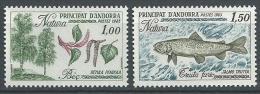 "Andorre YT 311 & 312 "" Protection De La Nature "" 1983 Neuf** - French Andorra"