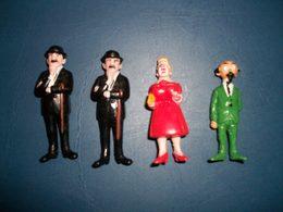 Tintin 4 Figurines Esso Belvision 1973 - Tintin
