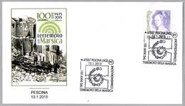 100 Años Del TERREMOTO Della Marsica - 100 Years Of Earthquake. Pescina, L'Aquila, 2015 - Geología