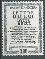 "Andorre YT 315 "" Lettre Du Roi "" 1983 Neuf** - French Andorra"