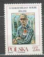 POLAND MNH ** 2645 PERE MAXIMILIEN KOLBE MORT AU CAMP DE CONCENTRATION D'AUSCHWITZ Religion Prêtre Curé - 1944-.... République
