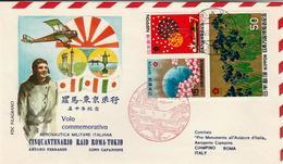 Japan - 1970 - Topic Aero Cover - Flight Tokyo - Rome - 1926-89 Empereur Hirohito (Ere Showa)