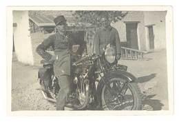 Photo Homme / Soldat Sur Moto Terrot - Photos
