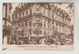 CPSM PARIS 9° ARRONDISSEMENT - ACADEMIA GAYA 2 Rue Des Italiens - Paris (09)