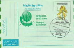 Libya - Aerogramme With Topc Cancel - Helicopter - Hélicoptères