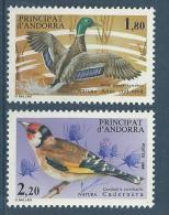 """Andorre YT 342 & 343 """" Oiseaux """"1985 Neuf** - Nuevos"""