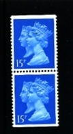 GREAT BRITAIN - 1990  DOUBLE HEADS  15p. CB HARRISON  PAIR  IMPERF. TOP & BOTTOM  MINT NH  SG 1467 - 1952-.... (Elisabeth II.)