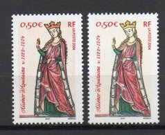 - FRANCE Variété N° 3640c - 0,50 € Reine Aliénor D'Aquitaine 2004 - COULEUR ORANGE ABSENTE - Cote 160 EUR - - Abarten Und Kuriositäten