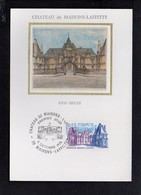 78 Château De Maisons Lafitte / Carte Maximum / Cachet Temporaire 1er Jour 6/10/1979 - Maisons-Laffitte