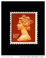 GREAT BRITAIN - 1990  MACHIN  10p.  PCP  MINT NH  SG  X940 - 1952-.... (Elizabeth II)