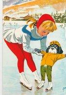 LES AVENTURES DE CAROLINE (à La Patinoire Avec Chien Youpi) De Pierre Probst. N° 1 - Illustrateurs & Photographes