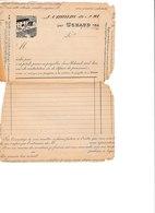 Enveloppe Faite Avec Un Papier Entête Domaine De ... Georges Ravier UCHAUD Gard Pour Breau Le Vigan - Cachets Généralité