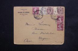 FRANCE - Enveloppe De Compiègne En 1927 Pour Noyon , Affranchissement Blancs Dont Millésime / Semeuses - L 24015 - 1921-1960: Modern Tijdperk