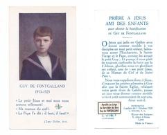 Relique Guy De Fontagalland, Parcelle De Son Linge, Prière Pour Sa Béatification (Paris, Die, Valence) - Images Religieuses