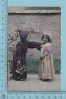CPA - Enfant Deguisé Enmoine Et Jeune Fille - A Servie En 1911 - Post Card Carte Postale - Cartes Humoristiques