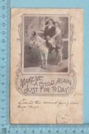 CPA - Fillettes à Cheval - A Servie En 1907 - Post Card Carte Postale - Cartes Humoristiques