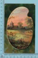 CPA - Paysage Dans Une Palette A Peintre - A Servie En 1910 - Post Card Carte Postale - Peintures & Tableaux