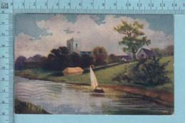 CPA- Village Stream #3413 - A Servie En 1910 - Post Card Carte Postale - Peintures & Tableaux